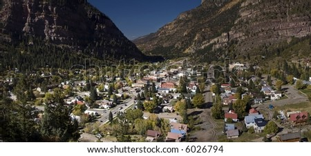 The Town of Ouray - stock photo