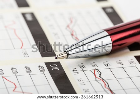 The tracking chart of trading on the stock exchange - stock photo