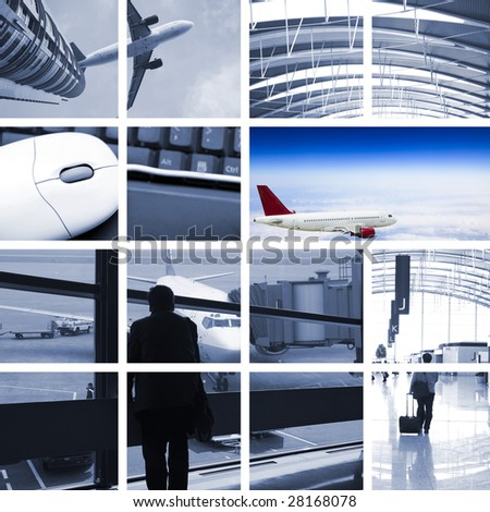 the transport concept with the scene at airport. - stock photo