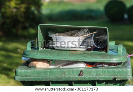 The trash broken malfunctioning  - stock photo