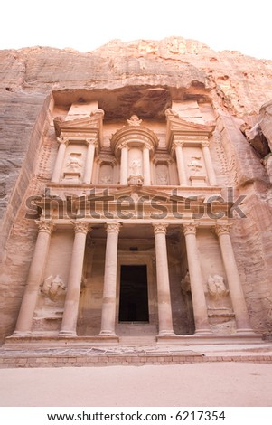 The Treasury at Petra - stock photo
