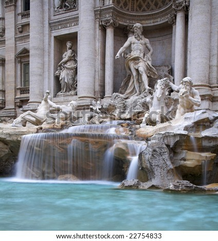 The Trevi Fountain, Rome, Italy - stock photo