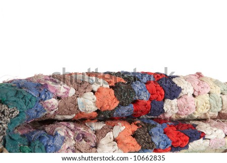 The turned carpet - stock photo