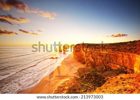 The Twelve Apostles Australia, Victoria, Port Campbell, Elevated view - stock photo