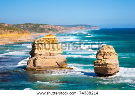 The Twelve Apostles, Great Ocean Road, Victoria, Australia - stock photo