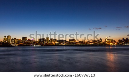 The twilight time of Toronto , Ontario , Canada - stock photo