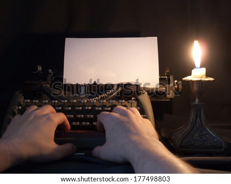 The typewriter that has been used in the last century - stock photo