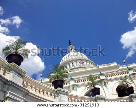 The U.S. Capitol building in Washington, D.C. - stock photo