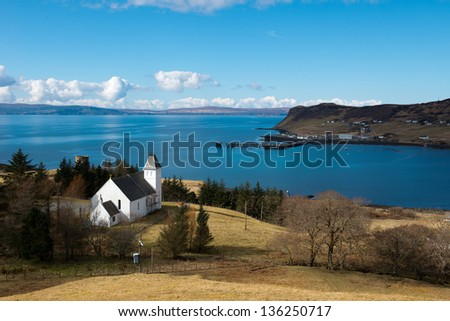 The Uig Free church of Scotland,Isle of Skye, Scotland - stock photo