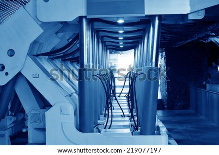 The underground mining equipment  - stock photo