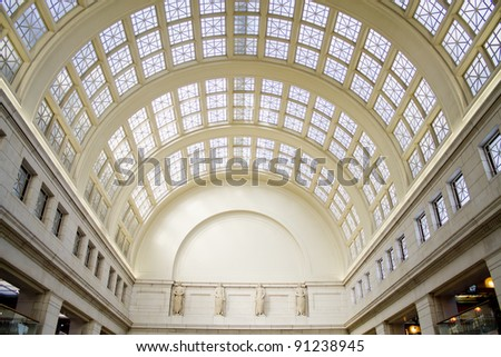 The Union Station in Washington DC, USA - stock photo