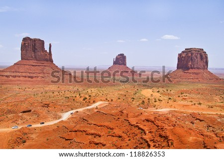 The unique beautiful landscape of Monument Valley, Utah, USA - stock photo