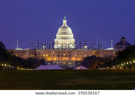 The United States Capitol building in Washington DC USA - stock photo