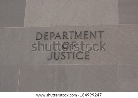 The United States Robert F. Kennedy Department of Justice building - stock photo