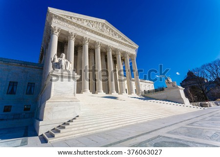 The United States Supreme Court building - stock photo
