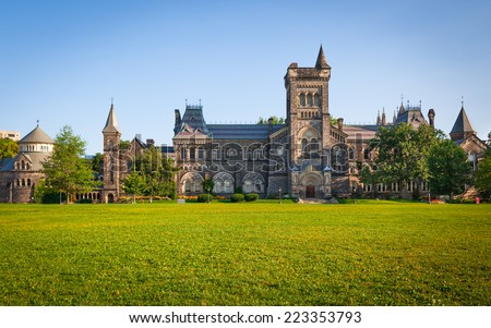 The University of Toronto and the Front Campus - stock photo