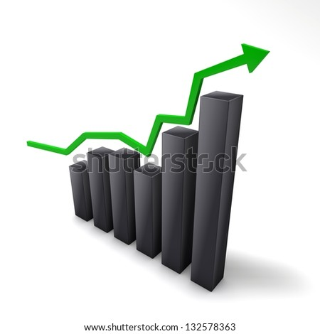The upward trend in the stock market can not be stopped, because the profits sprundel infinitely. - stock photo