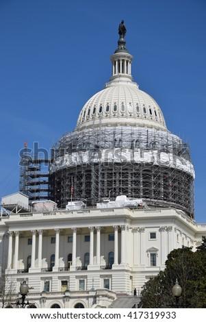 The US Capitol in Washington, DC - stock photo