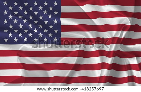 The USA Flag - background - stock photo