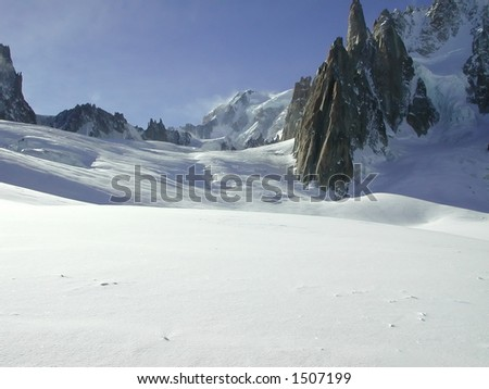 The Vallee Blanche 5 - stock photo