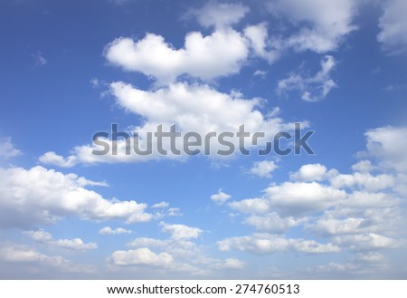 The vast blue sky and clouds sky. - stock photo