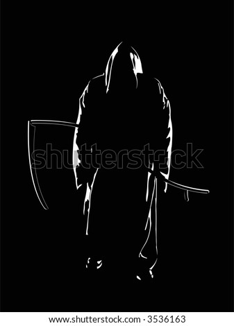 The vector image of the reaper of souls. The raster version. - stock photo