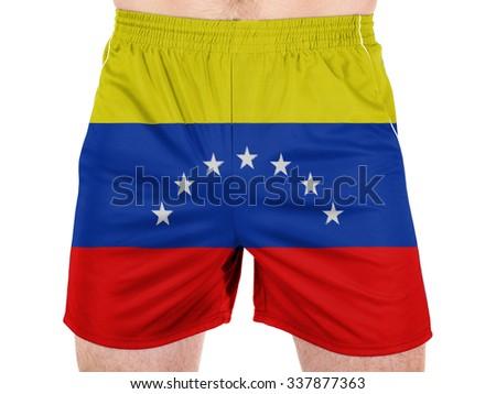 The Venezuelan flag  - stock photo