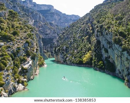 The Verdon Gorge - stock photo