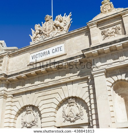 The Victoria gate, one of the entrances to Valletta, capital of Malta