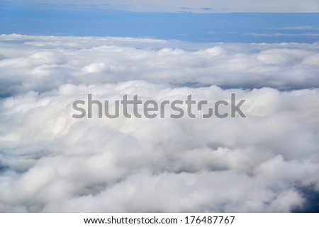 The view above the clouds  - stock photo