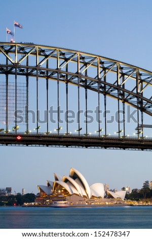 The view from McMahons Point in Lavender Bay, Sydney, Australia - stock photo