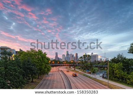 The view from the Studemont Bridge - stock photo