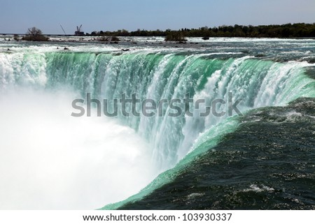 The view of the Horseshoe Falls. Niagara Falls, Ontario, Canada - stock photo