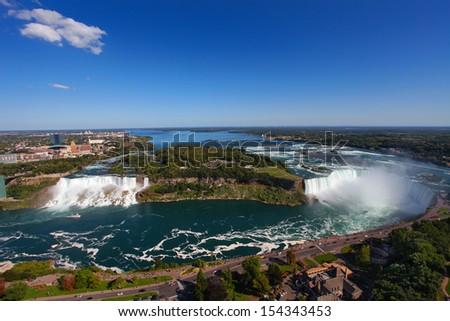 The view of the Niagara Falls, Ontario, Canada - stock photo