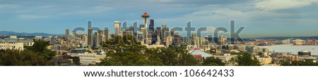 The view point of the city of Seattle - stock photo