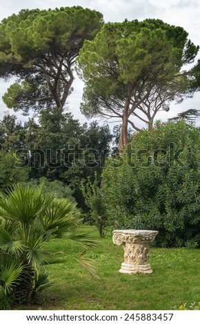 The Villa Celimontana (previously known as Villa Mattei) is a villa on the Caelian Hill in Rome, best known for its gardens. - stock photo