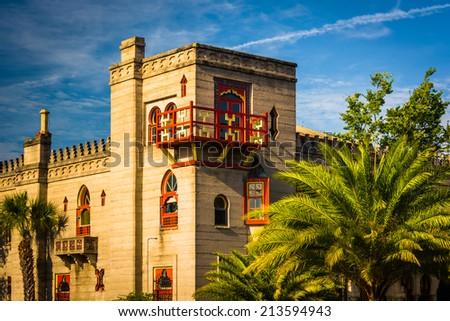 The Villa Zorayda Museum in St. Augustine, Florida. - stock photo