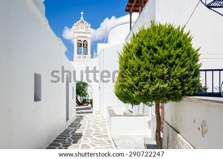 The village of Prodomos in Paros island, Greece - stock photo