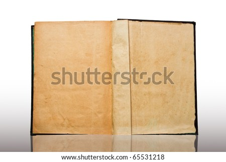 The Vintage book isolated on reflect background - stock photo
