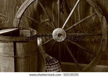The Wagon Wheel - stock photo