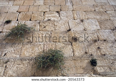 The Wailing Wall, Jerusalem, Israel(Western Wall) background - stock photo