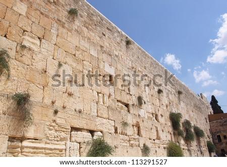 The Wailing Wall, Western wall , Jerusalem, Israel - stock photo