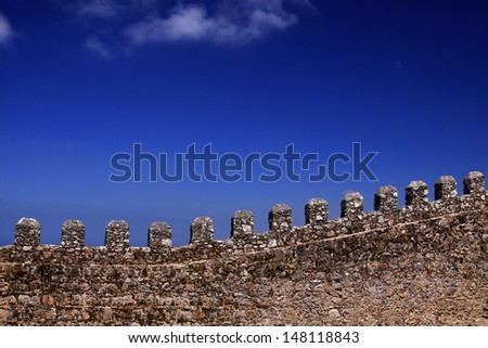 The wall of historic castle  - stock photo