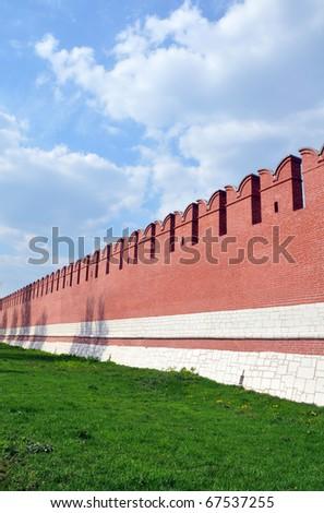 The Wall of Tula's kremlin - stock photo