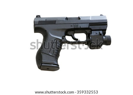 The Walther P99 is a semi-automatic pistol developed by the German - stock photo