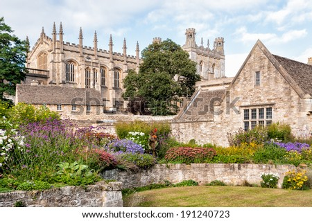 The War Memorial Garden at Christ Church College in Oxford - stock photo