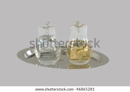 The water and wine - stock photo