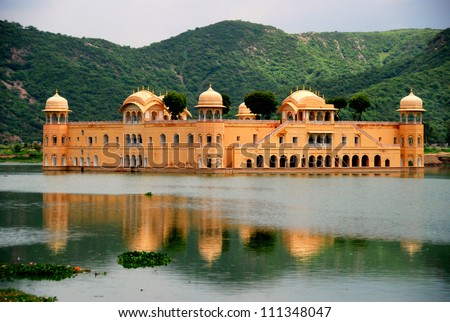 The Water Palace Rajasthan Jaipur India - stock photo