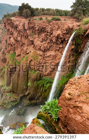 The waterfalls at Ouzoud, Morocco. - stock photo