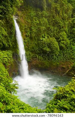 The waterfalls La Paz, Costa Rica - stock photo